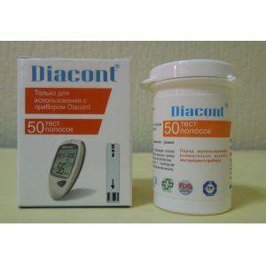 Тест-полоски Диаконт (Diacont)   ( 10 упаковок по 50 шт )